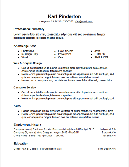 google_docs_functional_skills_resume_template