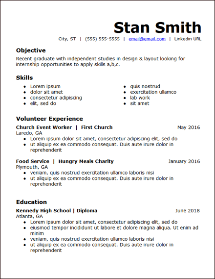 High School Education Skills Based Resume Template Hirepowers Net