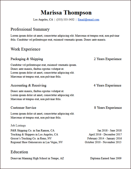 years_of_experience_functional_resume_template